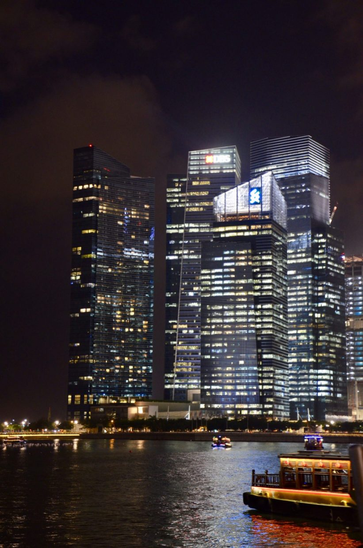 Singapura à noite, Singapore skyline