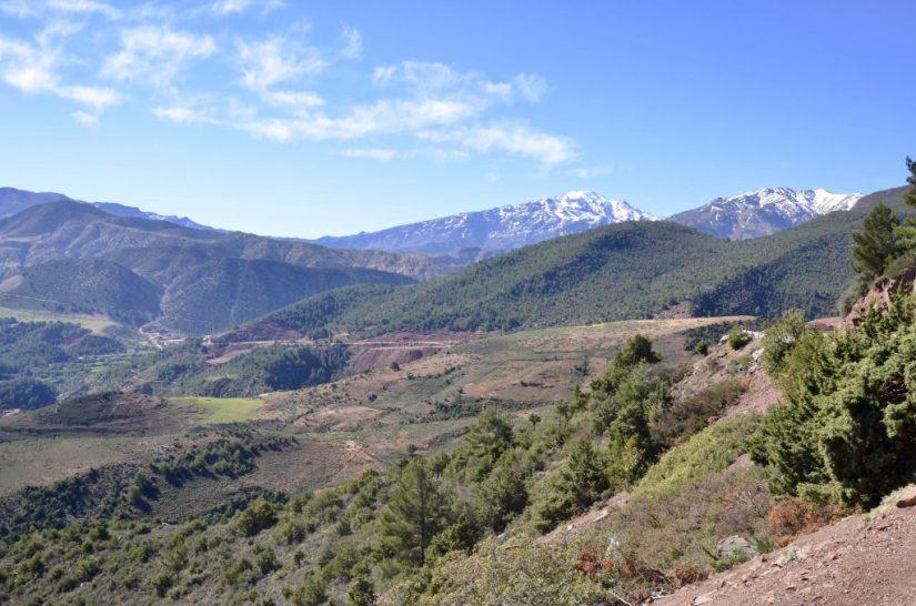 Montanha do Alto Atlas no Marrocos, High Atlas Mountains