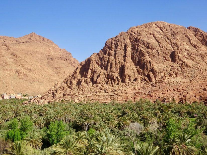 Oásis de palmeiras em Tinghir, Marrocos