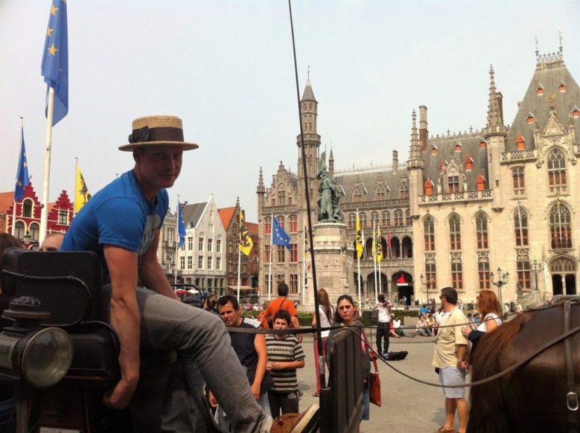 Passeio de carroça em Bruges