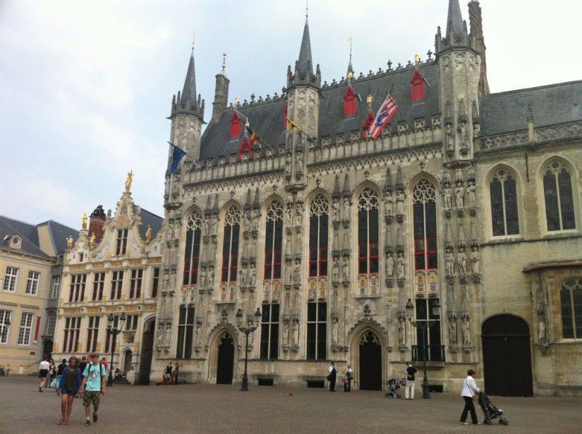 Prefeitura de Bruges na Burg Square
