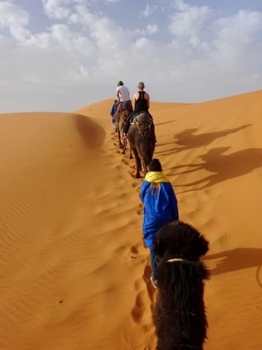 Deserto do Saara, passeio de camelo, Marrocos