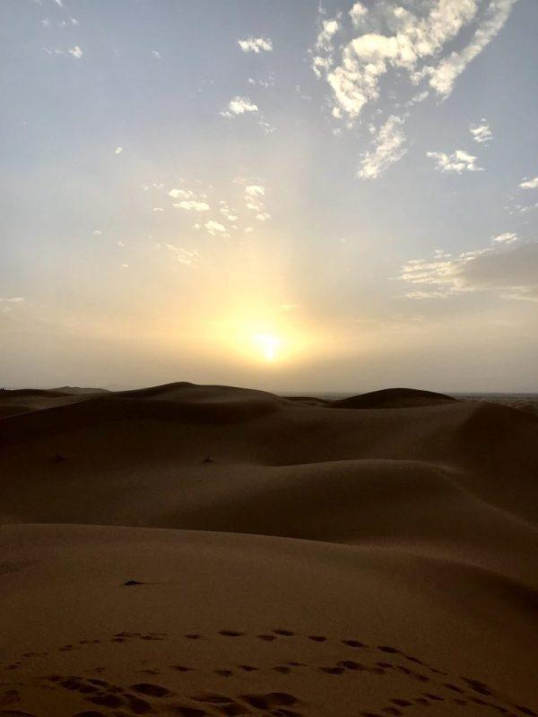 Por do sol no deserto, Marrocos, Merzouga
