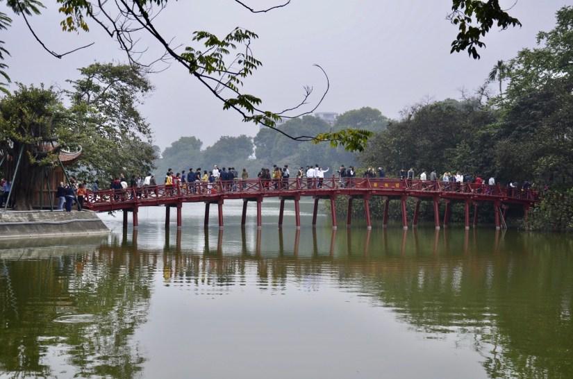 Ponte Huc, lago Hoan Kiem, Vietnã