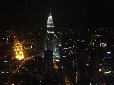 Vista panorâmica de Kuala Lumpur da Torre KL