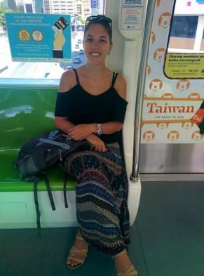 Andando de metrô em KL