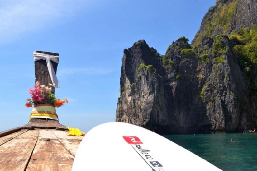 long tail boat to Maya Bay