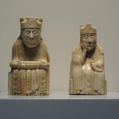 Museu Britânico em um dia - Peças de xadrez de Lewis.