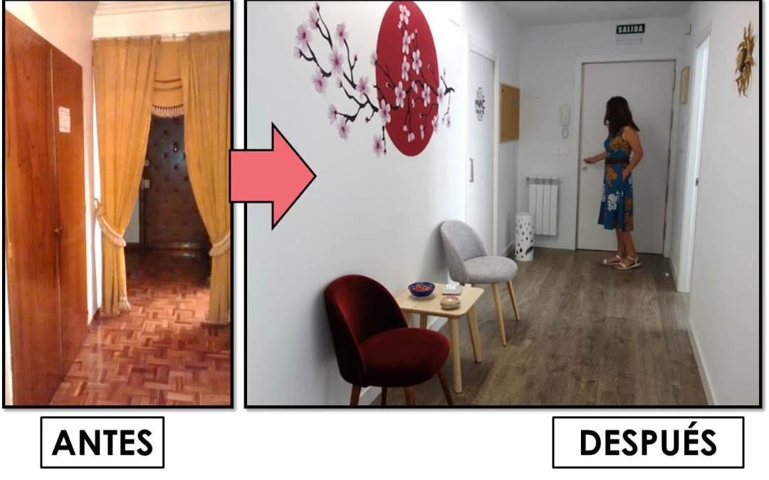 ANTES Y DESPUÉS de una casa antigua convertida en un centro de psicología