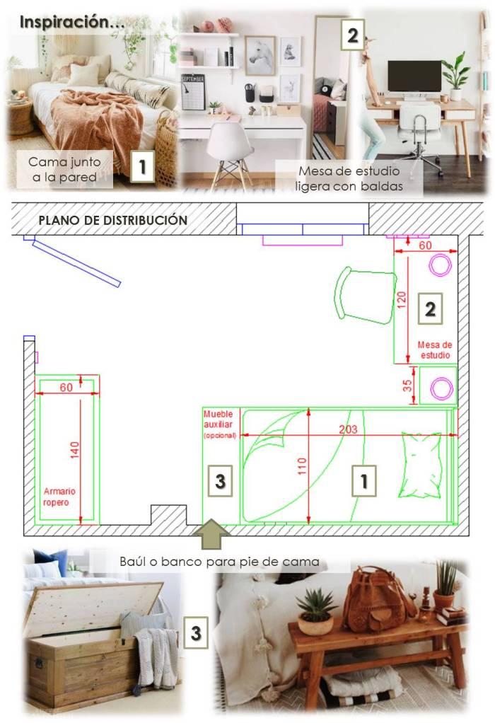 habitación juvenil de 10 m2 3