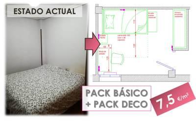 Pack Básico + Pack Deco. Cómo convertir una habitación sin gracia en un refugio juvenil con mucho estilo