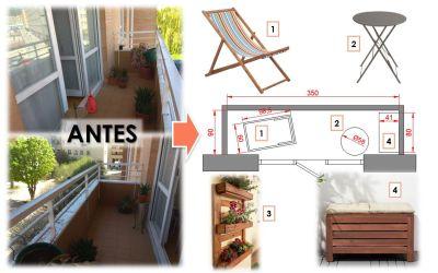Cómo aprovechar un balcón de 3 m2 para disfrutar de la cuarentena