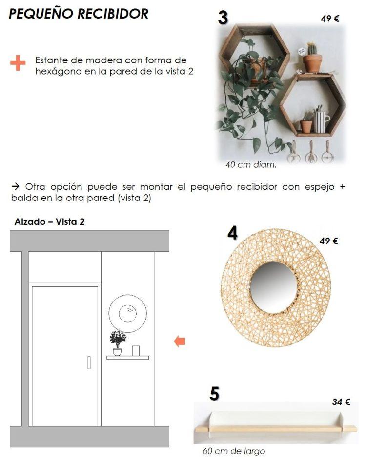 propuesta decorativa para recibidor, salón y cocina 12