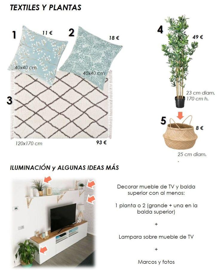 propuesta decorativa para recibidor, salón y cocina 14