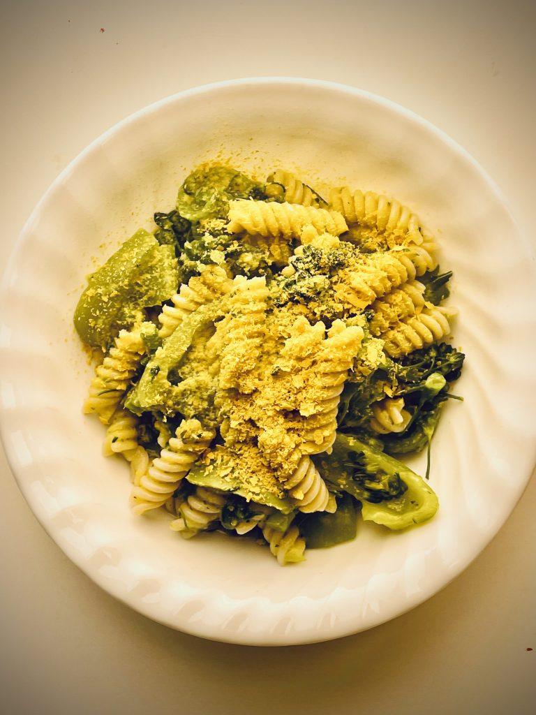 Creamy Zucchini Pasta (plant-based, gluten-free)