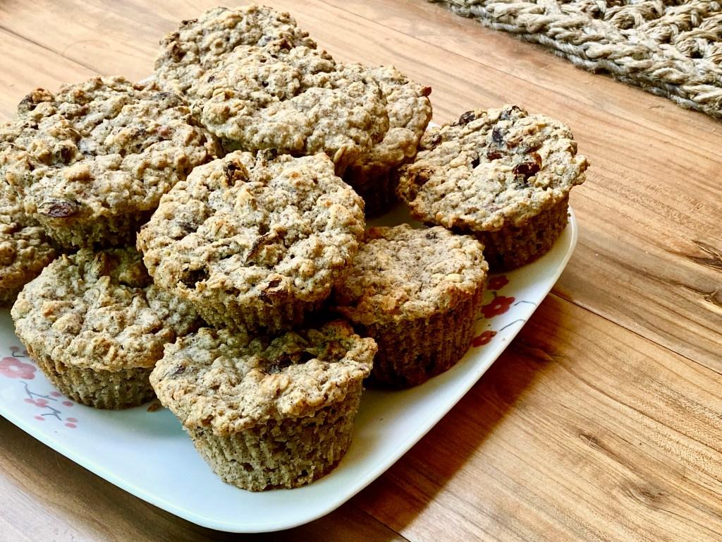 Apple Oatmeal Raisin Muffins (plant-based, gluten-free)