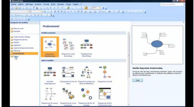 Visio 2007 présentation général de l'interface V4