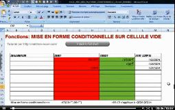 Excel 2007 mise en forme conditionnelle pour rendre cellule invisible