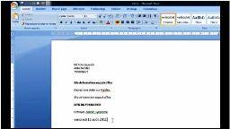 Word 2007 texte en surbrillance
