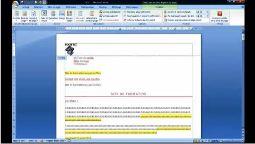 Word 2007 insérer entête et pied de page