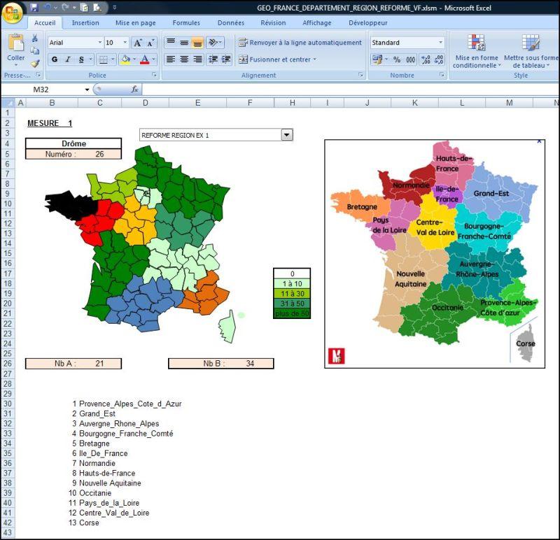 Excel 2007 créer une carte interactive