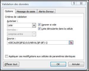 Excel 2007 : Comment faire un menu dynamique sur sur Excel en moins de 5 min. EXCEL_2007_EX_DECALER_MENU_DYNAMIQUE