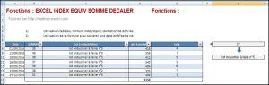 EXCEL_2007_EX_INDEX_EQUIV_ Num_SEMAINE_SOMME_DECALER Excel 2007 : Comment utiliser INDEX, EQUIV, SOMME, numéro de semaine, SOMME PROD, Grande.valeur sur Excel en moins de 5 min.