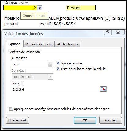 Excel 2007 : Comment faire un graphique dynamique sur Excel avec menu déroulant en moins de 5 min.