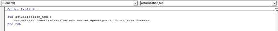 Excel 2010 : Comment actualiser un TCD avec plage dynamqiue sur Excel en VBA en moins de 5 min.EXCEL_2010_VBA_ACTUALISATION_TCD_MACRO