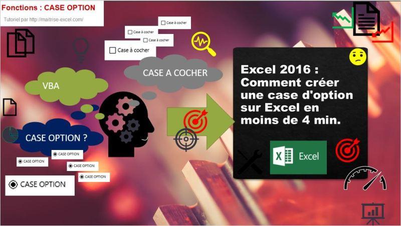 Excel 2016 : Comment créer une case d'option sur Excel en moins de 4 min.
