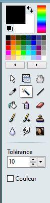 Comment faire un graphique design sur Excel : Photofiltre 7 outil baguette magique