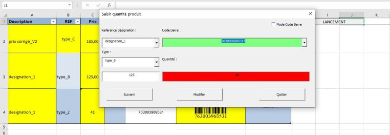 Excel 365 : Comment utiliser son téléphone comme lecteur de code-barres (douchette) sur Excel démo en moins de 10 min. Exemple Userform1 Excel VBA