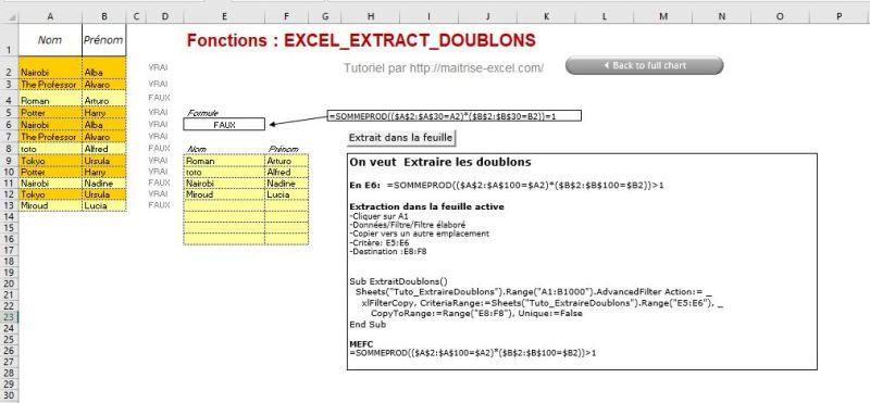 Excel 365 : Comment extraire doublon d'une plage sur Excel en moins de 6 min.