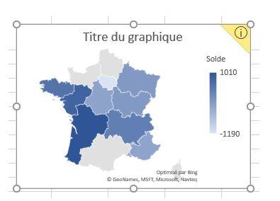 Excel 365 : Comment faire une carte des régions Française : Anomalie constatée