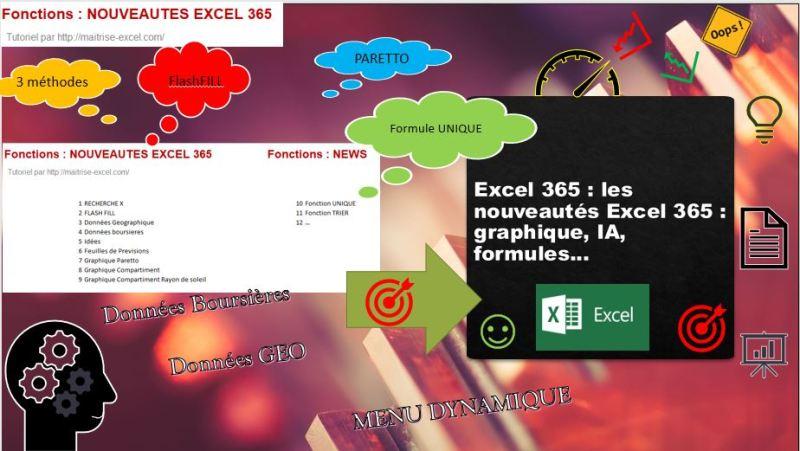 EXCEL  : NOUVEAUTÉS EXCEL 365