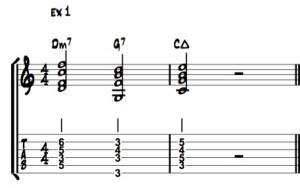 exemple 1 : II V I en C