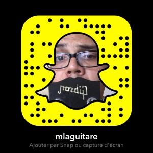 Snapchat sur la guitare en francais