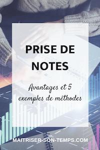 Prise de notes: avantages et 5 exemples de méthodes