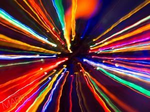 Image centrée volontairement (Arbre de Noël et effet zoom).
