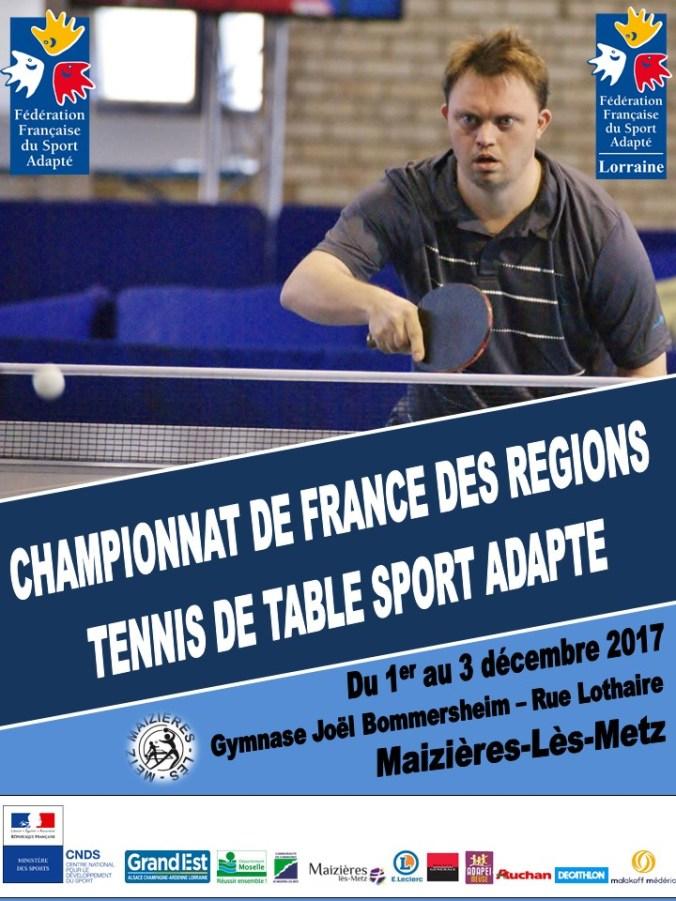 Ne manquez pas le championnat de france des r gions de - Championnat de france tennis de table ...