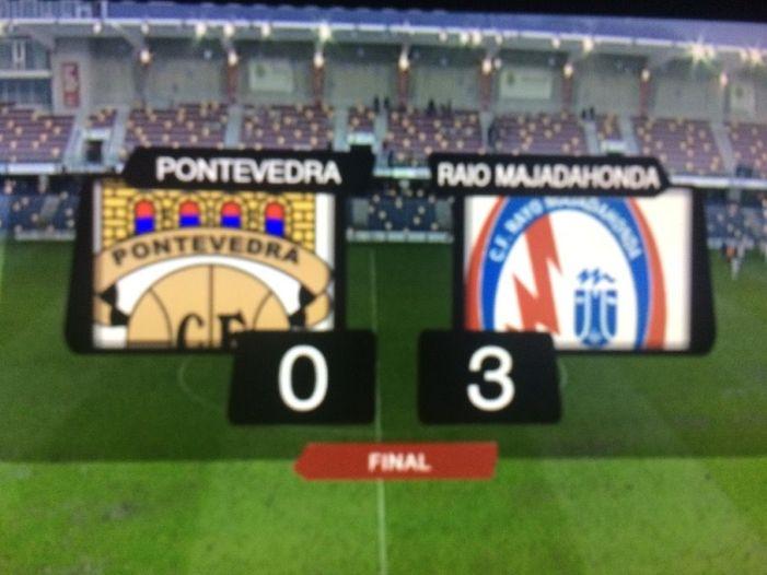 Rayo Majadahonda adquiere leyenda en Pontevedra (0-3) y Fuenlabrada se va de vacaciones a Tenerife