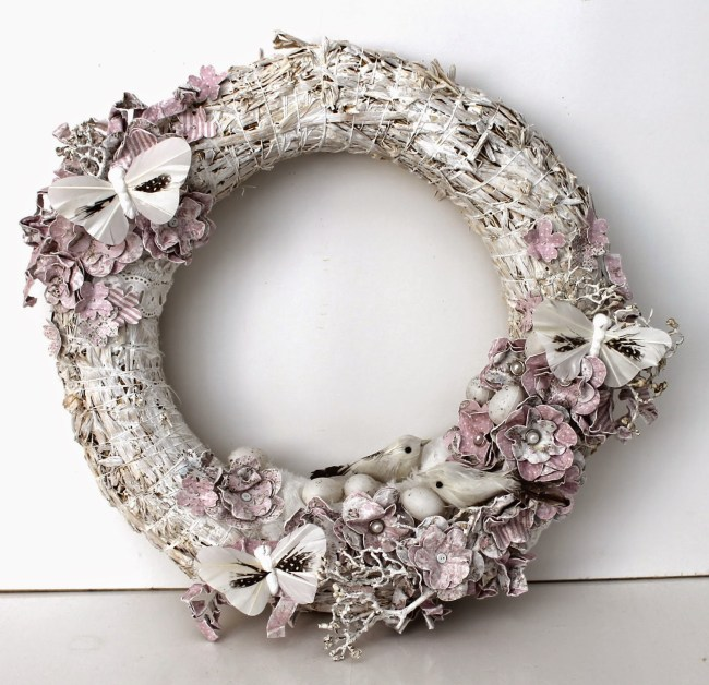 Wreath by Ingrid, using Vintage Spring Basics