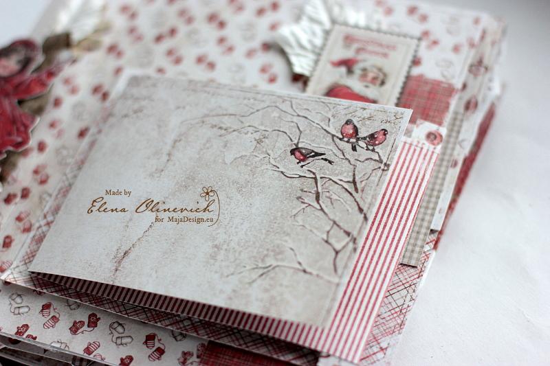 Winter is Magic Mini Album, by Elena Olinevich, Maja Design, photo1