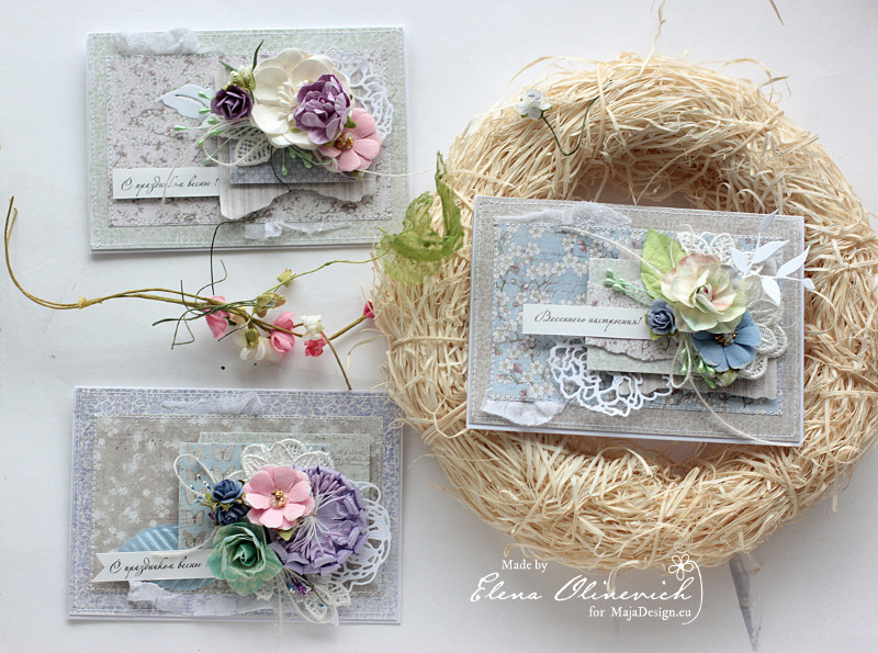 Spring Cards by Elena Olinevich for Maja Design