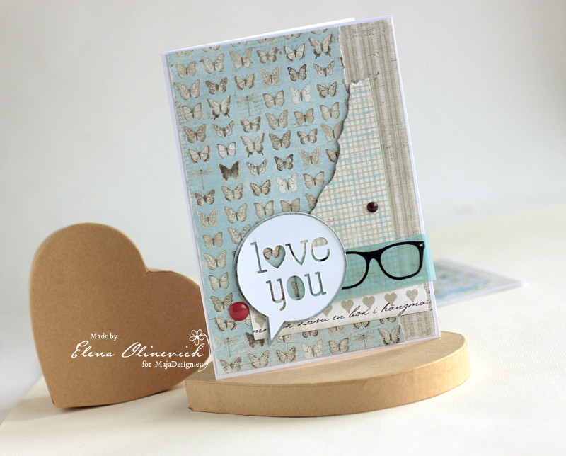 Valentine Day Cards, Maja Design papers2