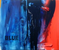 EXTREME VOLUME OF BLUE, 100 x 120 cm
