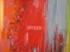 COURAGEOUS RED, 60 x 80 cm