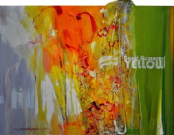 GOOD HUMORED YELLOW, 60 x 80 cm