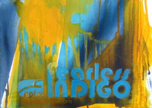 FEARLESS INDIGO, 30 x 40 cm