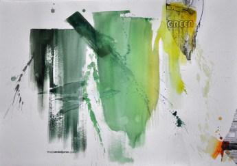 GREEN, 30 x 40 cm